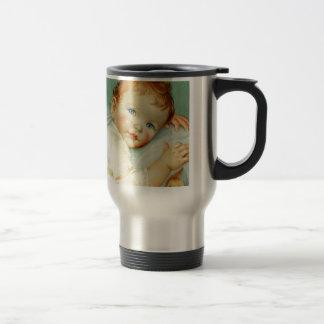 Baby boy birth/birthday travel mug