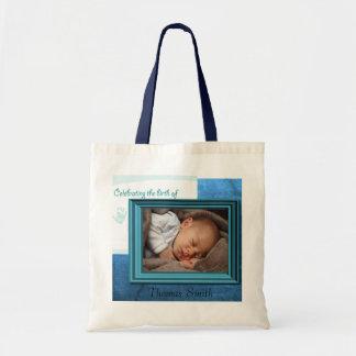 Baby Boy Birth Photo Keepsake Bags