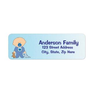 Baby Boy Blankie Blue Address Label