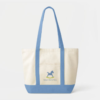 Baby Boy Blue and Yellow Rocking Horse Bag