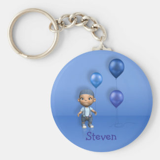 Baby Boy & Blue Balloons Name This! - Keychain