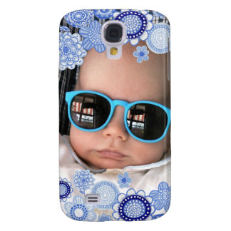 Baby Boy Blue Painted Fine Art Photo Frame Samsung Galaxy S4 Cover