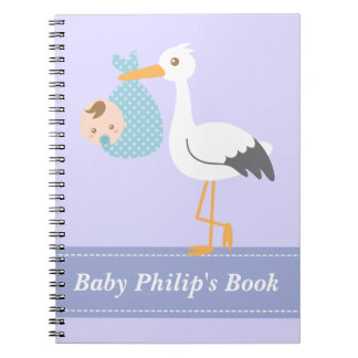 Baby Boy Book - Stork Delivers Baby Boy