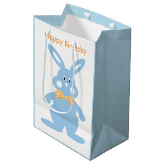 Baby Boy Bunny Custom MGB Medium Gift Bag