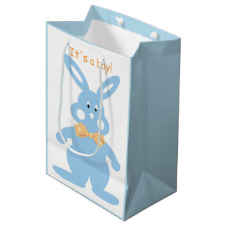 Baby Boy Bunny Custom New Baby Custom MGB Medium Gift Bag