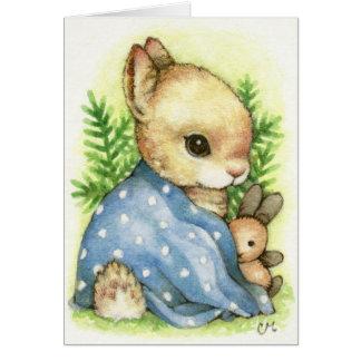 Baby Boy Bunny - Cute Rabbit Announcement Card