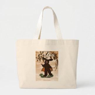 Baby boy bunny sweet chocolate 1 tote bags