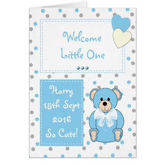 Baby Boy Card congratulations