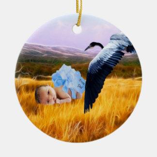 Baby boy christmas christmas tree ornament