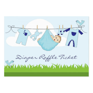 Baby Boy Clothes Line Diaper Raffle Business Card
