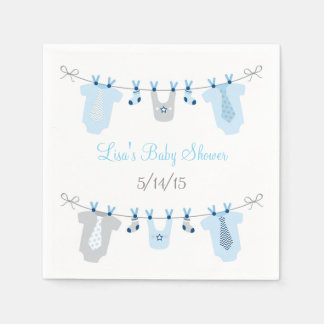 Baby Boy Clothesline Baby Shower Disposable Napkin