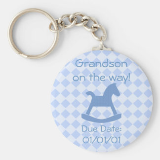 Baby Boy Collection Basic Round Button Key Ring