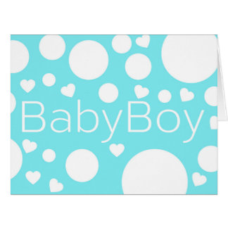 Baby Boy congratulations Big Greeting Card