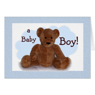 Baby Boy Congratulations Greeting Card