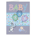 Baby Boy congratulations new baby Greeting Card