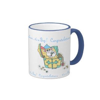 BABY (Boy) Congratulations Ringer Mug