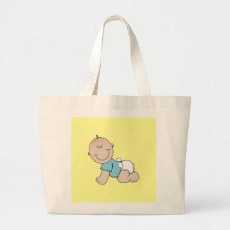 Baby boy crawling tote bag