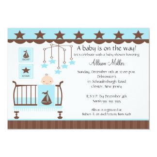 Baby Boy Crib Boy Baby Shower Invitation