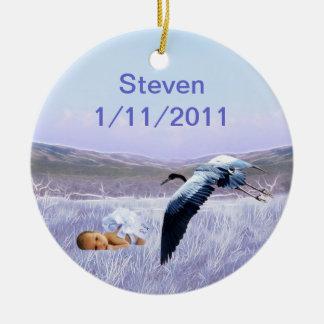 Baby boy christmas ornament