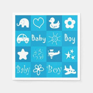 Baby boy disposable serviette