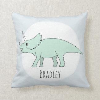 Baby Boy Doodle Dinosaur with Name Nursery Cushion