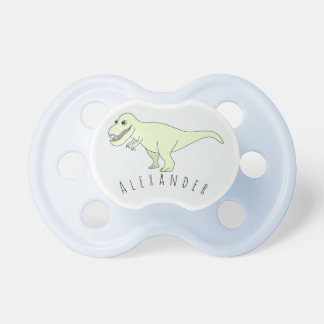 Baby Boy Doodle T-Rex Dinosaur with Name Dummy