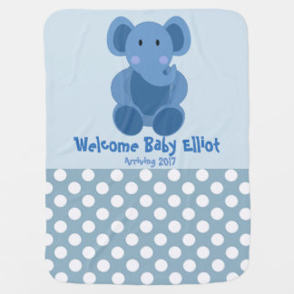 Baby Boy Elephant Blanket
