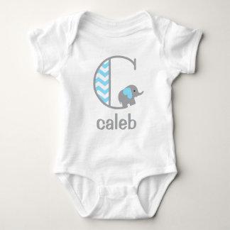 Baby Boy Elephant Bodysuit Boys Monogram Shirt C