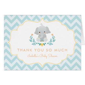 Baby Boy Elephant | Cute Baby Shower Thank You Card