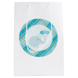 Baby Boy elephant gift bag