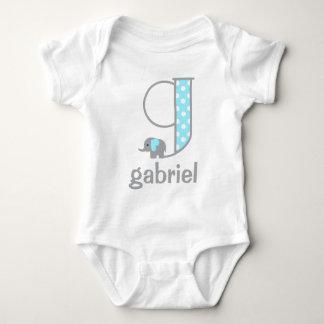 Baby Boy Elephant Polka Dot Boy Bodysuit Initial g