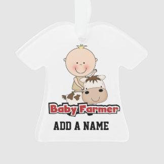 Baby Boy Farmer With Cow