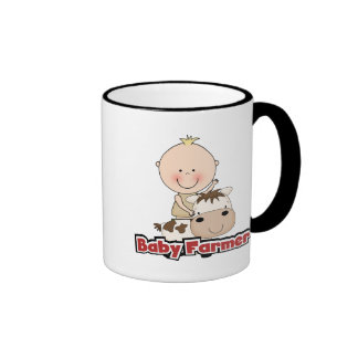 Baby Boy Farmer With Cow Tshirts and Gifts Mugs