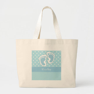 Baby Boy Footprints Adorable Bags
