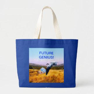Baby boy future genius tote bag