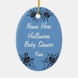 Baby Boy Halloween Baby Shower Spider Ornaments