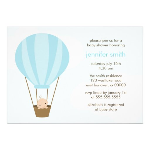 Baby Boy in Blue Balloon Cards