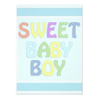 Baby Boy 14 Cm X 19 Cm Invitation Card