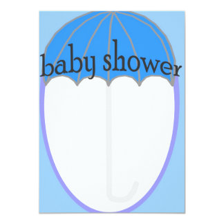 """Baby Boy 4.5"""" X 6.25"""" Invitation Card"""