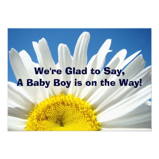 Baby Boy is on the Way! Blue Invitation Cards