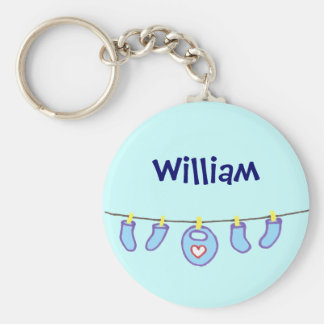 Baby Boy Laundry It's A Boy! Personalized Key Ring