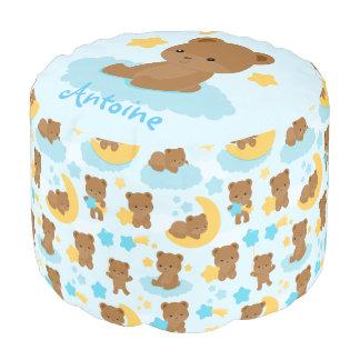 Baby Boy Little Bear Nursery Personalized Pouf
