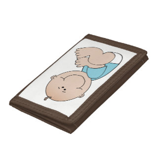 Baby Boy Lying Trifold Wallets
