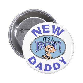 Baby Boy New Daddy 6 Cm Round Badge
