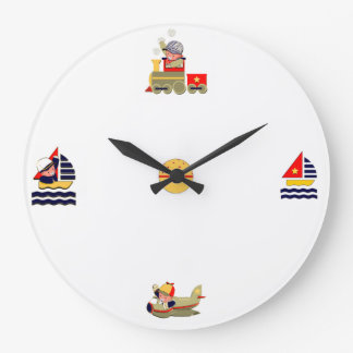 Baby Boy Nursery Large Clock