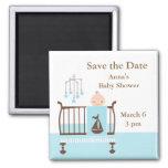 Baby Boy Nursery Square Magnet