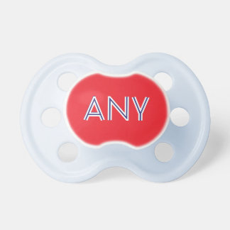 Baby Boy Pacifier: Red Dummy