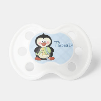 Baby Boy Penguin Pacifier to Personalise
