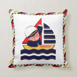 baby boy personalized gift cushion