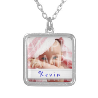 baby boy photo necklace with name